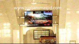 jual jam jadwal sholat digital masjid jeda iqomah di tanah abang Jakarta
