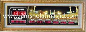 jual jam jadwal sholat digital masjid komplit di tanah abang Jakarta