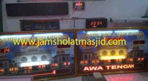 jual jam jadwal sholat digital masjid running text di senen Jakarta