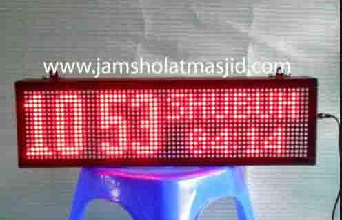 jual jam jadwal sholat digital masjid running text di kebun bawang jakarta
