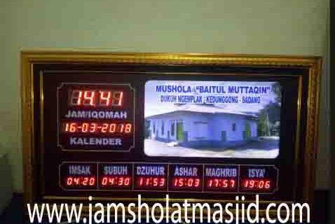 jual jam jadwal sholat digital masjid running text daerah depok