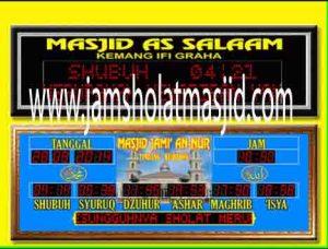 harga jam digital masjid di jakarta pusat