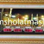 penjual jam jadwal sholat digital masjid running text di cikarang barat