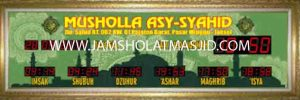 penjual jam jadwal sholat digital masjid running text di pekanbaru pusat