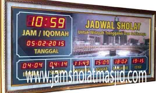 penjual jam jadwal sholat digital masjid running text di Kaliabang Tengah bekasi