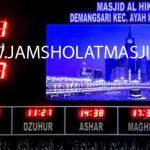 penjual jam jadwal sholat digital masjid running text di Pejuang bekasi