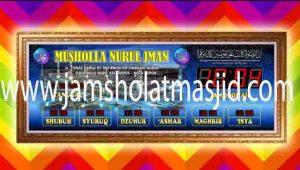 toko jam digital masjid yang ada di jakarta