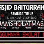 jual jam dinding digital untuk masjid di jakarta barat