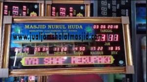 menjual jam jadwal sholat digital masjid running text di pekanbaru pusat