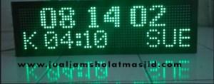 menjual jam jadwal sholat digital masjid running text di Kayuringin Jaya Bekasi