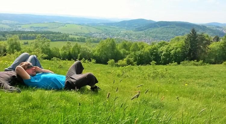 Aussichtspause auf dem Dicken Berg
