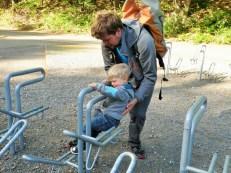 """Jakob beim """"Bouldern"""""""