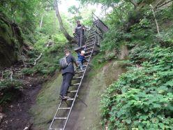 Aufstieg auf die Schrammsteine über die Wildschützenstiege