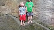 Jakob und Luis bei ihrem Sprungbattle
