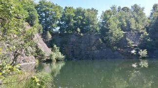 Die Kletterwand im Burgstallbruch