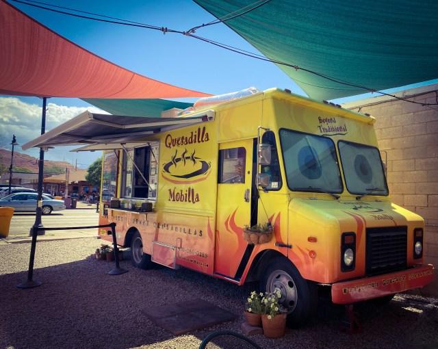 Quesadilla Mobilla food truck in Moab, Utah