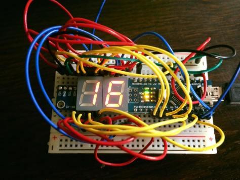 Arduino Nano mit BMP180 Sensor und Anzeige