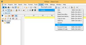 PSPadPlugin_ScriptsMenu