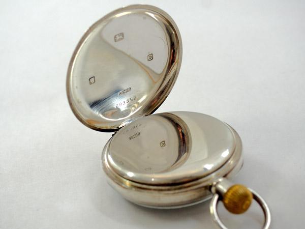 J.W.ベンソン 銀無垢 ポケットウォッチ アンティーク 懐中時計