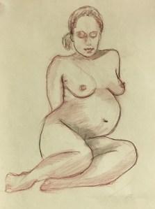 Pregnant Mama, conte on paper