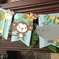 Jungle Themed Baby Shower Banner