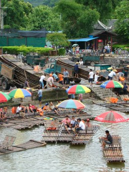 Love the bamboo rafts