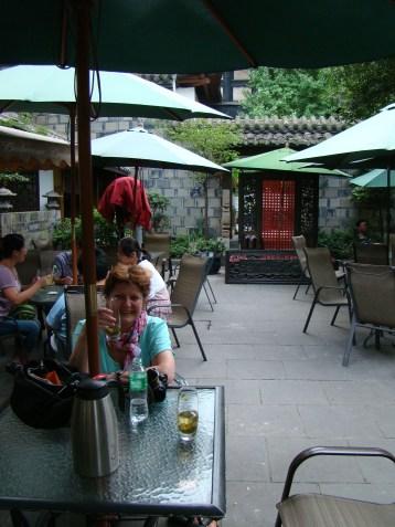 Relaxing at Lotus Palace tea house