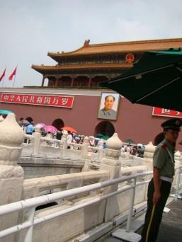 Entering the Forbidden City through the East Glorious Gate,