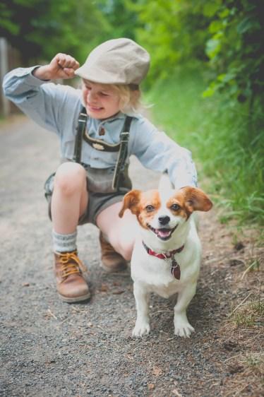 Gustav, Hund, Stella, Tracht, Wald, natur