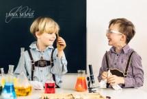 Fotoshooting: Kinderfotografie im Chemielabor - Experimente mit Trockeneis