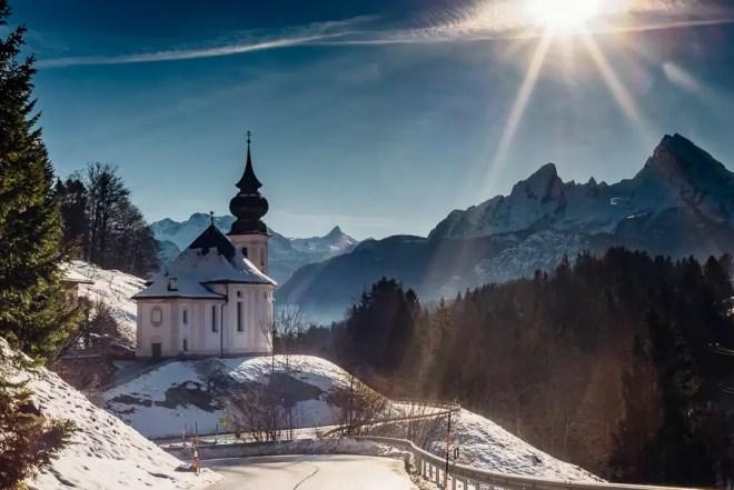 Alpen, Bayern, Berchtesgadener Land, Deutschland, Schnee, Winter