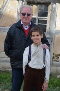 Yoram Friedman with Andrzej Tkacz/Kamil Tkacz (both boys played him as a young boy)