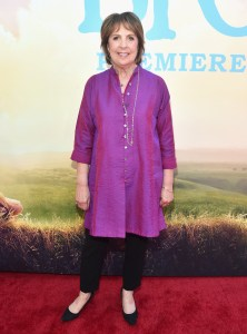 """HOLLYWOOD, CA - JUNE 21:  Actress Penelope Wilton arrives on the red carpet for the US premiere of Disney's """"The BFG,"""" directed and produced by Steven Spielberg. A giant sized crowd lined the streets of Hollywood Boulevard to see stars arrive at the El Capitan Theatre. """"The BFG"""" opens in U.S. theaters on July 1, 2016, the year that marks the 100th anniversary of Dahl's birth, at the El Capitan Theatre on June 21, 2016 in Hollywood, California.  (Photo by Alberto E. Rodriguez/Getty Images for Disney) *** Local Caption *** Penelope Wilton"""