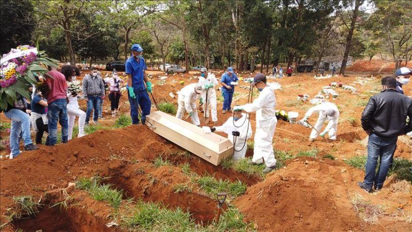 ब्राजिलमा एकै दिन १ हजार ६५७ जनाको कोभिड १९ सङ्क्रमणबाट मृत्यु