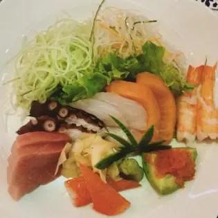 Japanese salad at Far East, Zorlu Center, Istanbul