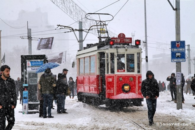 Happy New Year from snowy Istanbul!