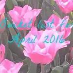 Bucket list for April 2016
