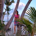 Outfit: Pink dress on Key West beach