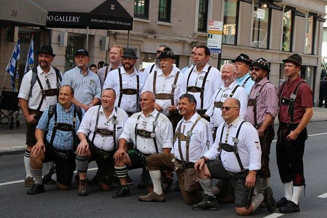 Walking in the German-American Steuben Parade 2019   janavar