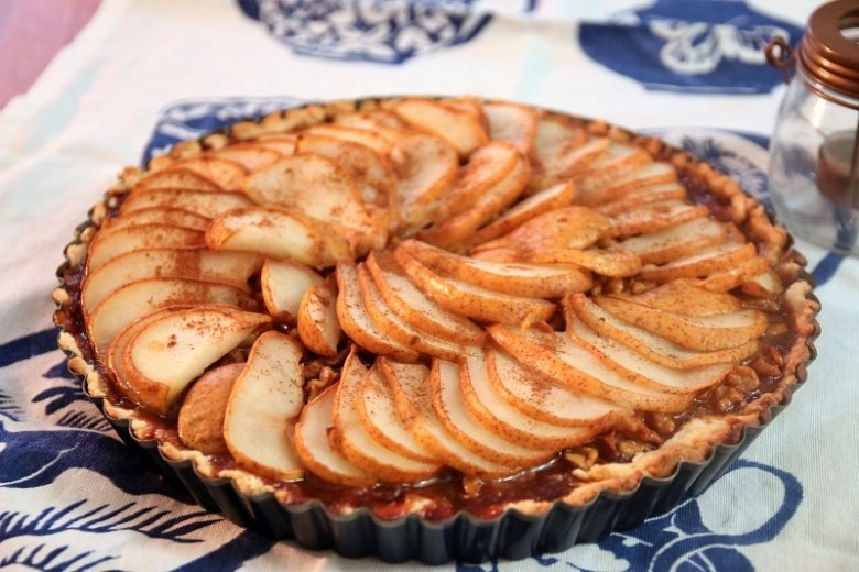 Seasonal Eats Better: Caramelized Walnut Pear Tart - Recipe