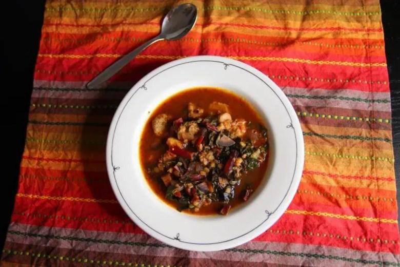 Recipe: Vegan Swiss Chard Lentil Soup | janavar