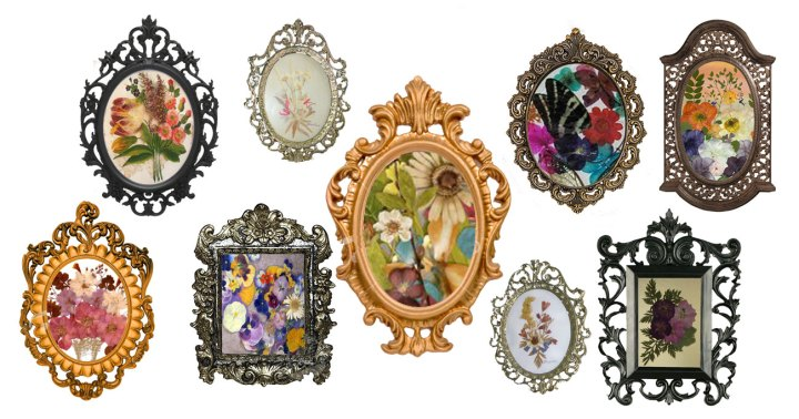 antique frame designs. Antique Frame Designs Beautiful Mini Vintage Collection With Pressed  Wildflowers Intended Antique Frame Designs