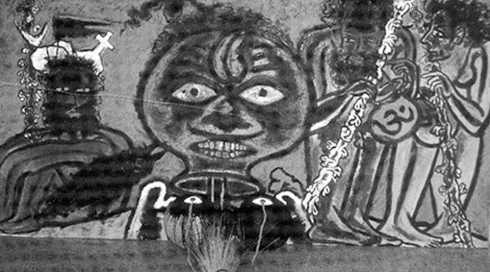 जाति व्यवस्था पर पेंटिंग।