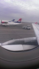 View from airplane, Belgrade Airport