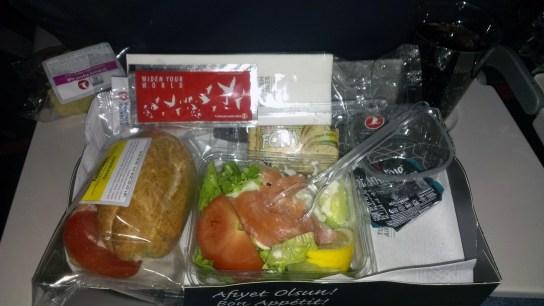 Turkish Airlines ručak