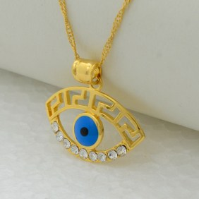 Zlatna ogrlica sa motivom nazara - Gold necklace with a Nazar motif