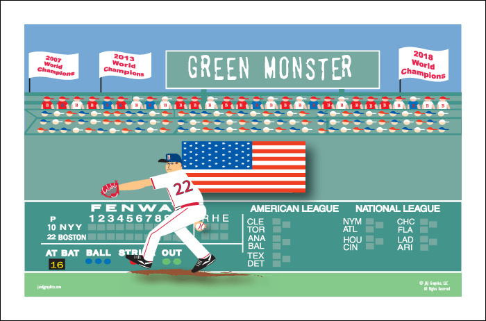 boston sports posters by j j graphics