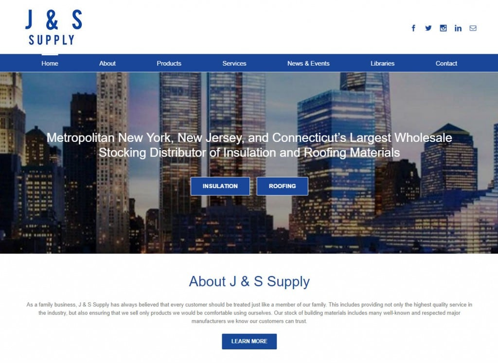 J & S Website Screenshot