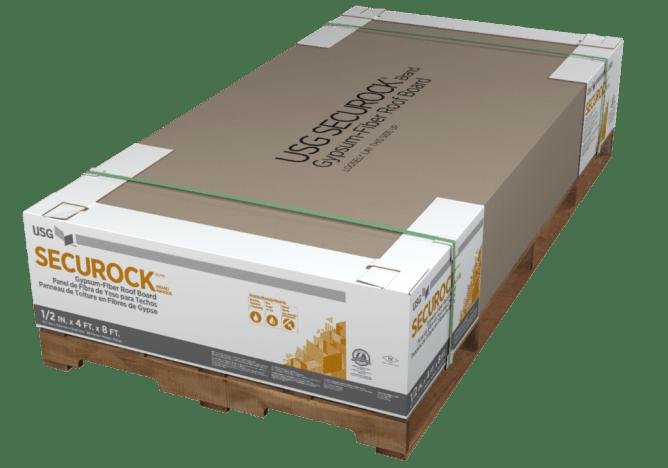 USG Securock Brand Gypsum-Fiber Roof Board