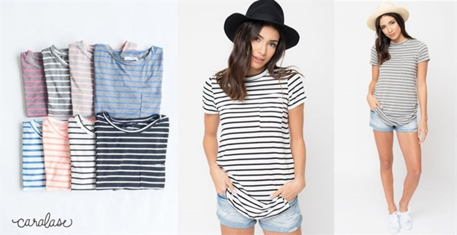 Striped Short Sleeve Tee | S-XL